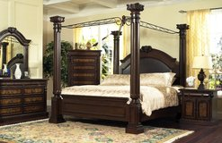 4 Poster Bedset Empire - Queen & King Size - monthly payments possible in Ansbach, Germany