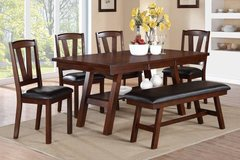 NEW***6 PIECE DINING SET TABLE 4 CHAIRS & BENCH in Savannah, Georgia
