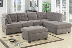 NEW WAFFLE SUEDE 2 PC SECTIONAL SET in Savannah, Georgia