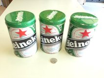 3 Small Heineken Beer Tins in Aurora, Illinois