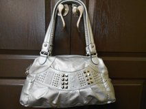 Kathy Van Zeeland Silver Studded Hand Bag in The Woodlands, Texas