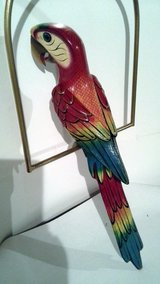 Large Paper Mache Hanging Parrot made in Mexico in Bartlett, Illinois