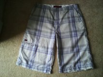 Tony Hawk plaid shorts in Quantico, Virginia
