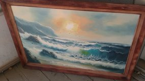 Laguna beach beach canvas painting in Lake Elsinore, California