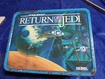 1977 Star Wars lunch box filled with vintage items in Kingwood, Texas