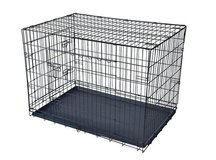 "Black 30"" Pet Folding Dog Cat Crate Cage Kennel w/ABS Tray LC New! in Perry, Georgia"