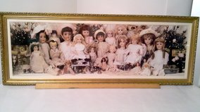 """Vintage Panoramic View """"Dolls"""" Framed Picture in Naperville, Illinois"""