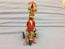 Antique Schylling  Vintage Dr Duck Bicycle WIND UP Toy Metal Propeller Hat Helicoptor in Houston, Texas