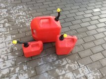 Red gas cans in Ramstein, Germany