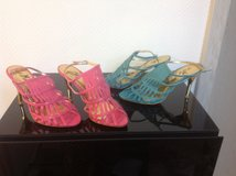 Pink and turquoise Heels.NEW! Size 5,5 in Ramstein, Germany