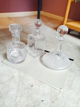 Vintage glass decanters in Yorkville, Illinois