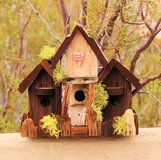 Handcrafted Birdhouse, Made from Recycled wood, 3 unit compound, 4Deboids in Yucca Valley, California