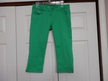 Green Skinny Jean Capris in Fort Riley, Kansas
