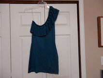 One Sleeve Teal Dress in Fort Riley, Kansas