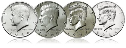 Kennedy Half Dollars in Okinawa, Japan