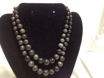 "2 Strand Muli Gray Green Bead Necklace Extender 18"" in Houston, Texas"