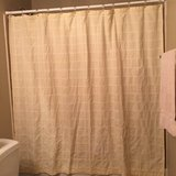 Yellow Fabric Shower Curtain in The Woodlands, Texas