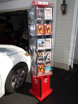 ROTATING ,,DISPLAY CASES, 6' TALL,DVD'S/BLU-RAYS/VHS/MAGAZINES in Batavia, Illinois