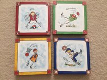 Kids Sports Canvas Wall Art 9x9 Set in Westmont, Illinois
