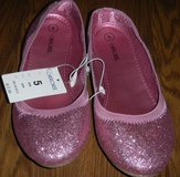 NEW Girls 5 Cherokee Pink Sparkle Glitter Ballet Flats Size 5 in Kingwood, Texas