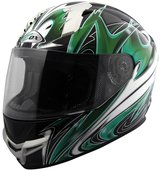 Motorcycle Helmet Green Black ZOX DOT AMA race approved never used in San Ysidro, California