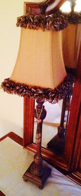 2 Designer Lamps with silk shades in Lockport, Illinois