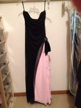 Strapless black and pink gown in Bartlett, Illinois
