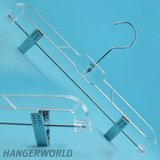 12 Clear, Adjustable Plastic Skirt Or Pants Hangers in Houston, Texas