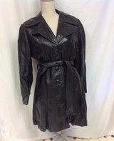 Wilson's Women's Leather Coat -Trench Black Med small (see measurements) in Kingwood, Texas