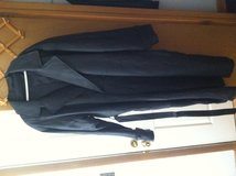 Men 2 xlarge black trench coat like new in Fort Riley, Kansas