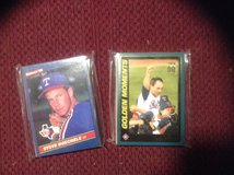 25 Assorted Texas Rangers Baseball Cards 80's-90's in Camp Lejeune, North Carolina