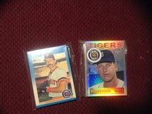 25 Assorted Detroit Tigers Baseball Cards 80's-90's in Camp Lejeune, North Carolina
