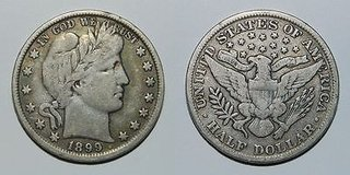 Barber Silver Half Dollars in Okinawa, Japan