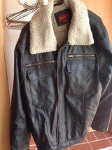 Men's faux leather jacket large in Bellevue, Nebraska