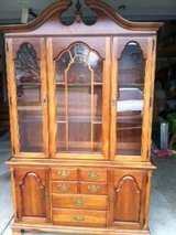 Wood China cabinet in Naperville, Illinois