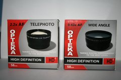 HD Wide Angle and Telephoto Lens for all 58 mm Lens in Beaufort, South Carolina
