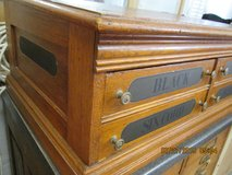 J P Coats Oak Display Spool  Chest  (of Coats and Clarke) in Alamogordo, New Mexico
