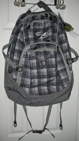 NEW Grip High Sierra Gray Black Plaid Backpack in Houston, Texas