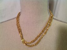 "NWOT Etienne Aigner Gold Tone Chain Necklace 2 Strands 18"" Necklace in Kingwood, Texas"