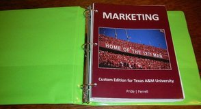 MARKETING Texas A&M Custom Edition College Textbook Book Management in Kingwood, Texas