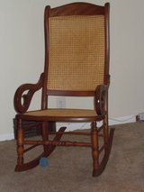 vintage cane back rocking chair in Fort Leavenworth, Kansas