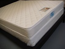 QUEEN ORTHOPEDIC PILLOW TOP MATTRESS AND BOX NEW in Oceanside, California