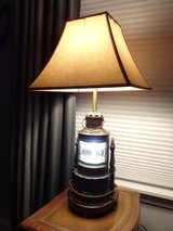 **LOWER PRICE*** HEKLICHT - Antinque Nautical Lamp with night light **lower price** in Yorkville, Illinois