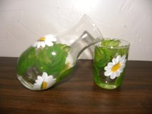 Lovely Daisy Theme Juice Caraffe w Glass in Naperville, Illinois