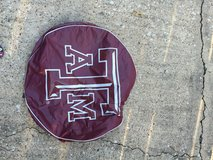 Texas A&M tire cover for pop-up camper in Houston, Texas