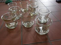 Glass Flowerpots - Beautiful !!!!    11 pieces with plates in Grafenwoehr, GE