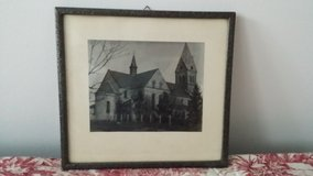 vintage church picture and souvenir  tile serving tray in Ramstein, Germany