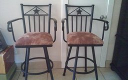 Wrought Iron Swivel Bar Stools in Conroe, Texas