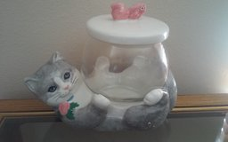 Kitty & Fish Bowl Cookie Jar in Conroe, Texas