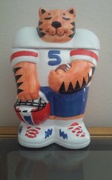 Cat Football Cookie Jar in Conroe, Texas